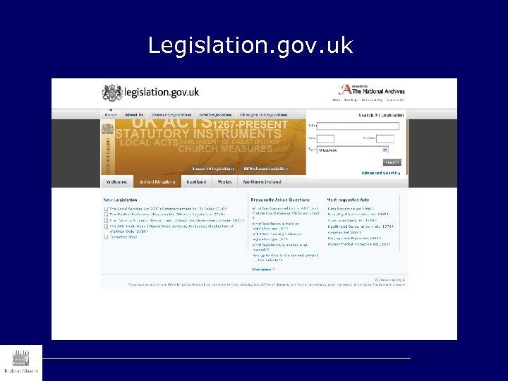 Legislation. gov. uk