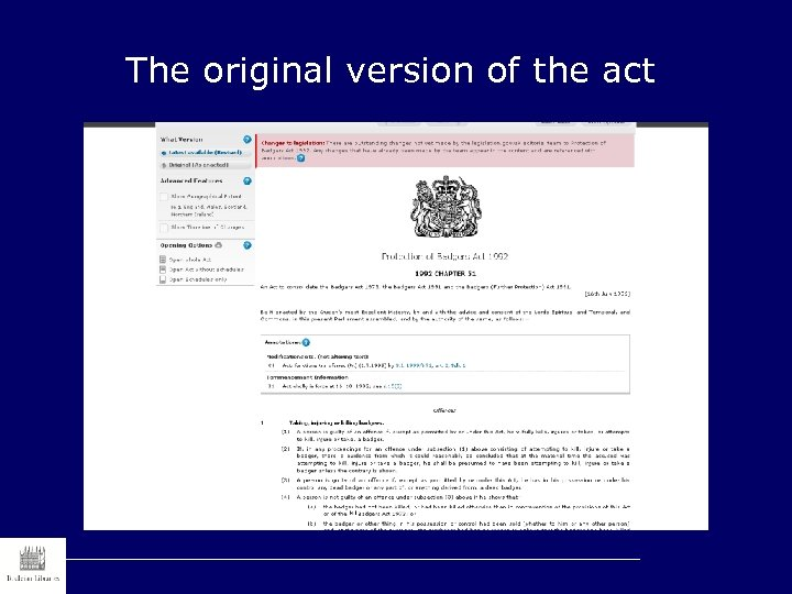 The original version of the act