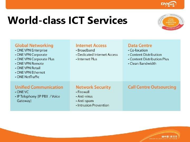 World-class ICT Services