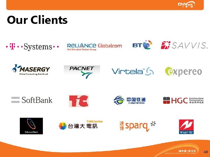 Our Clients Carrier Customers 48