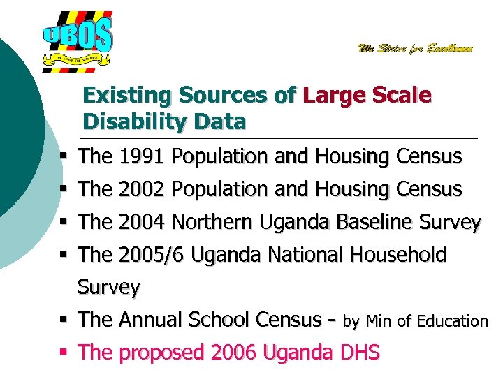 Existing Sources of Large Scale Disability Data § The 1991 Population and Housing Census