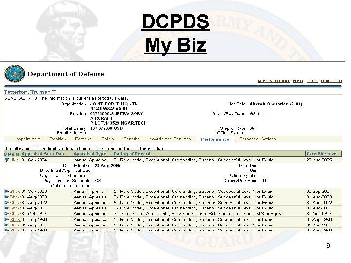 DCPDS My Biz 8