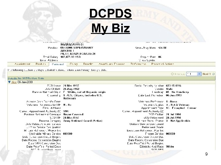 DCPDS My Biz 9