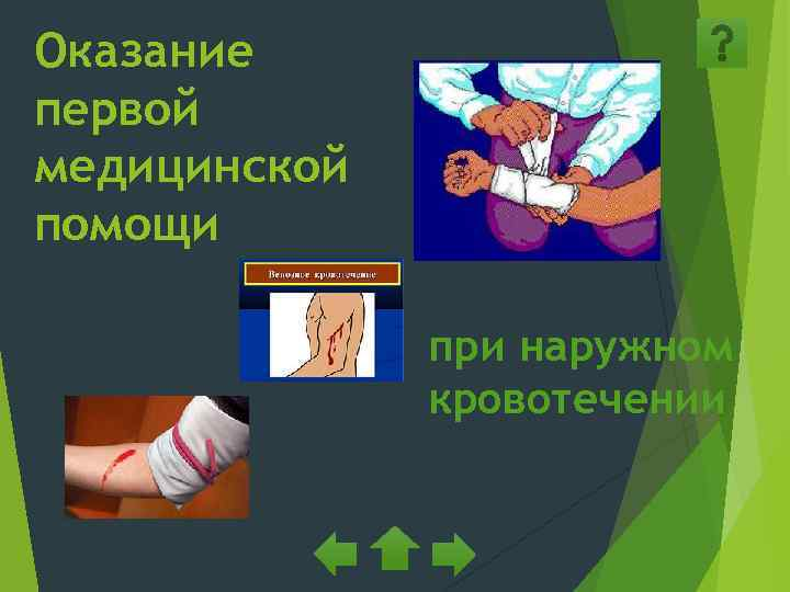 Оказание первой медицинской помощи    при наружном    кровотечении