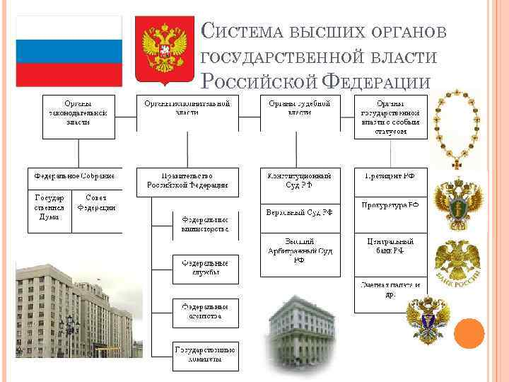 Рф в органов шпаргалка правительства системе место государственной власти