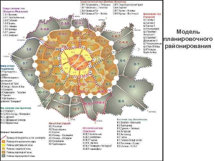 Модель планировочного районирования