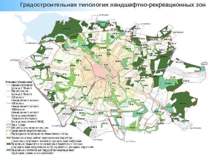 Градостроительная типология ландшафтно-рекреационных зон