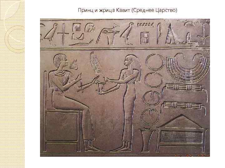Принц и жрица Кавит (Среднее Царство)