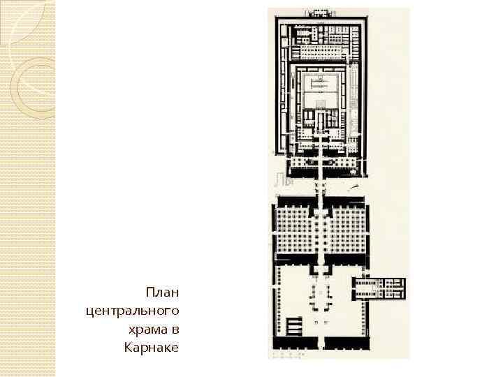 План центрального храма в Карнаке