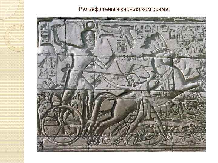 Рельеф стены в карнакском храме