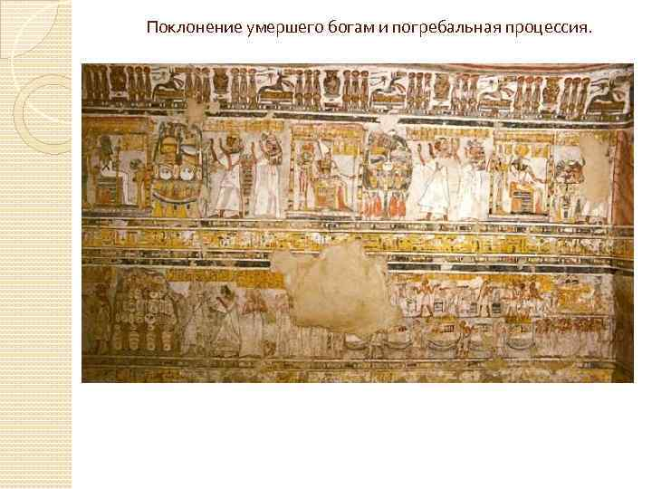 Поклонение умершего богам и погребальная процессия.
