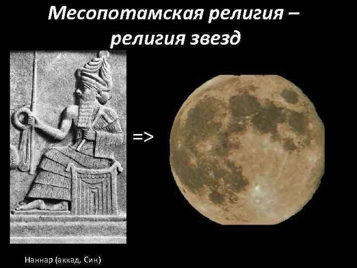 Месопотамская религия – религия звезд => Наннар (аккад. Син)