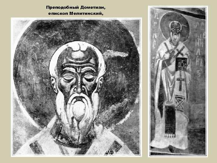 Преподобный Дометиан, епископ Мелитинский,