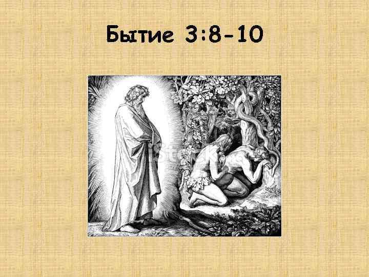 Бытие 3: 8 -10