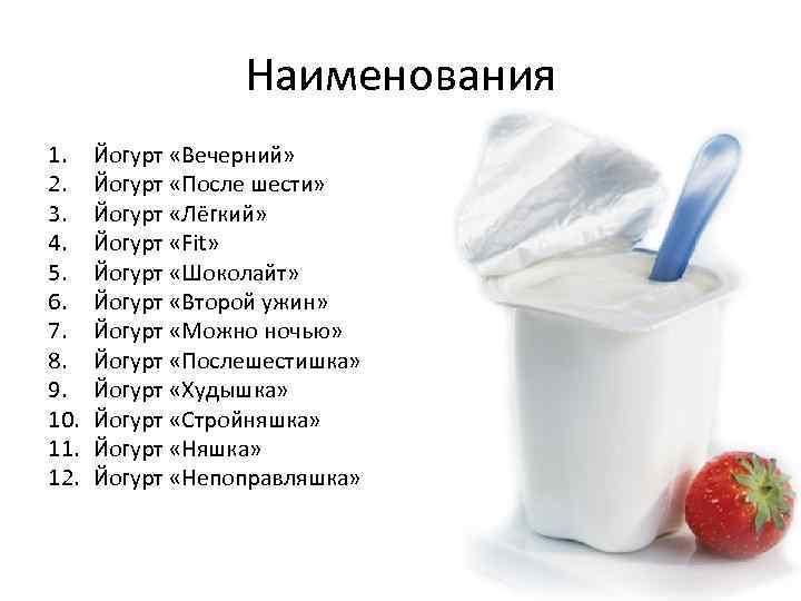 Диета Йогурт