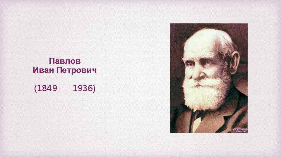 Павлов Иван Петрович (1849 — 1936)