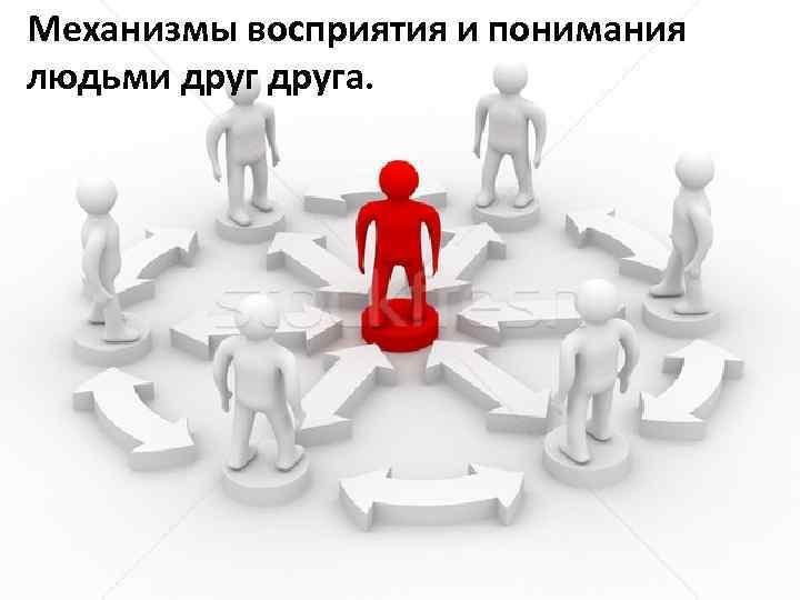 Механизмы восприятия и понимания людьми друга.