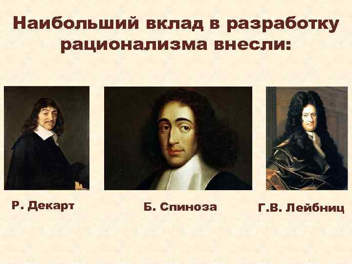 descartes leibniz and spinoza Descartes, leibniz, and spinoza essay no works cited length: 695 words (2 double-spaced pages) if these great thinkers (descartes, spinoza, and leibniz) were to.