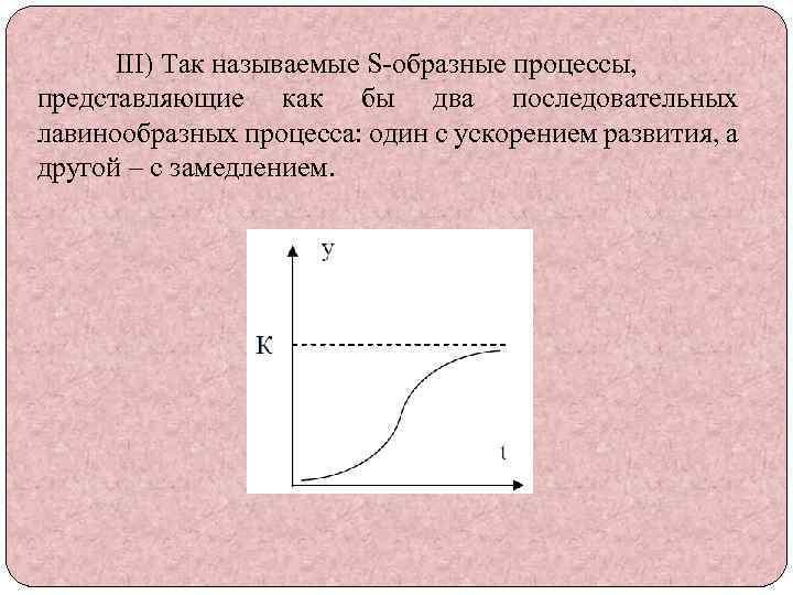III) Так называемые S-образные процессы, представляющие как бы два последовательных лавинообразных процесса: один с