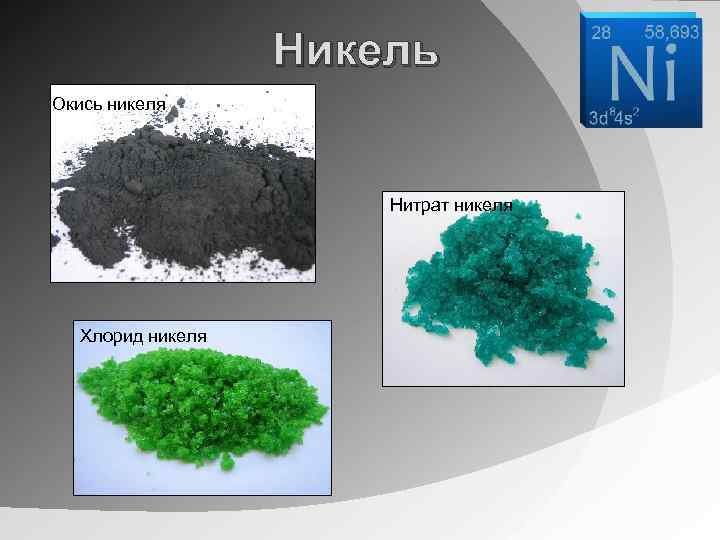 Как сделать хлористый никель