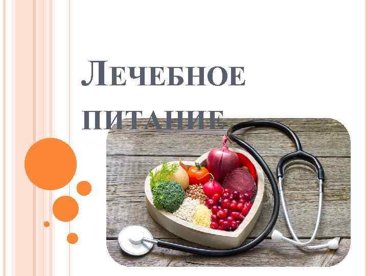 Презентация о медицинской диете