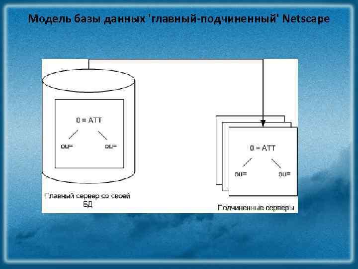 Модель базы данных 'главный-подчиненный' Netscape