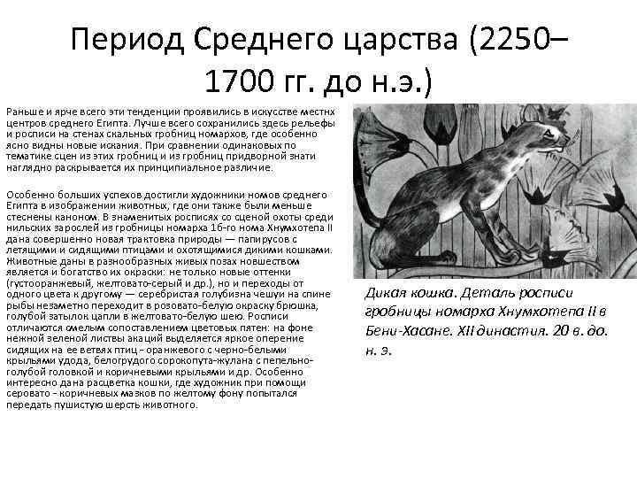 Период Среднего царства (2250– 1700 гг. до н. э. ) Раньше и ярче всего