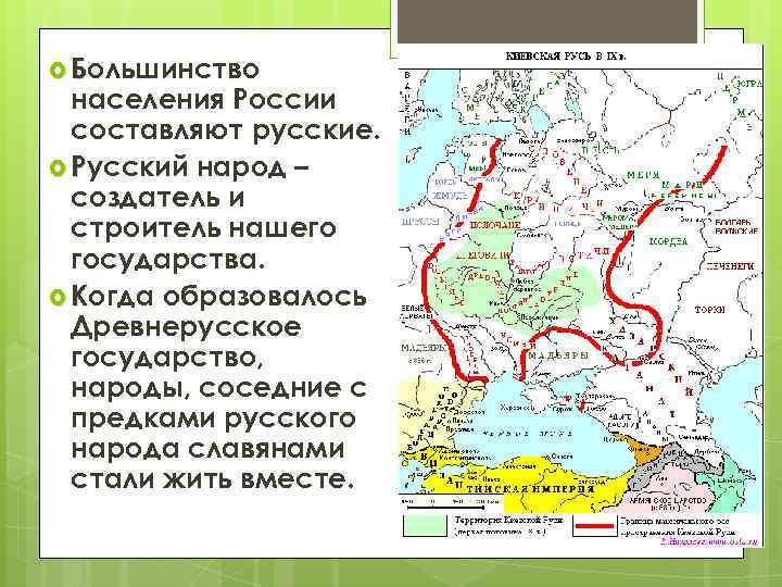 Большинство населения России составляют русские. Русский народ – создатель и строитель нашего государства.