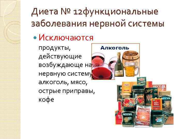 Певзнер Диеты 12. Диета №12 (диетический стол №12), разрешенные, запрещенные продукты