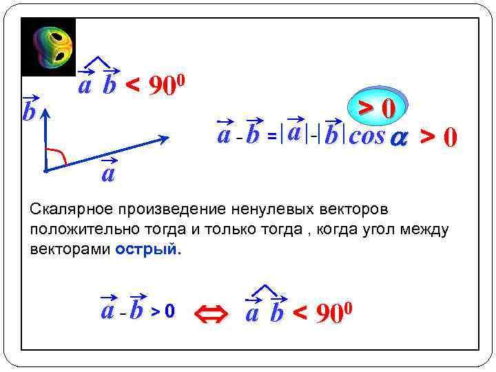 b a b < 900 >0 a b = a b cos a >