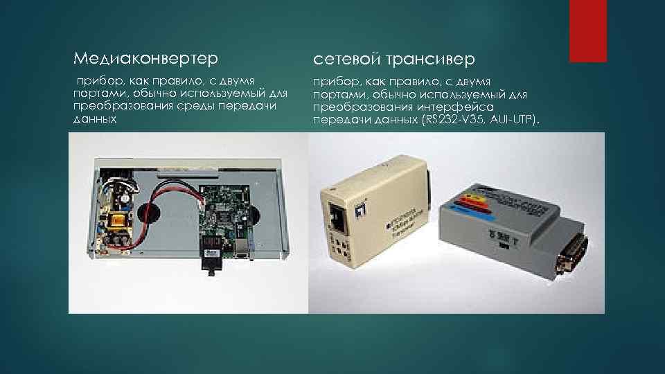 Медиаконвертер сетевой трансивер прибор, как правило, с двумя портами, обычно используемый для преобразования среды