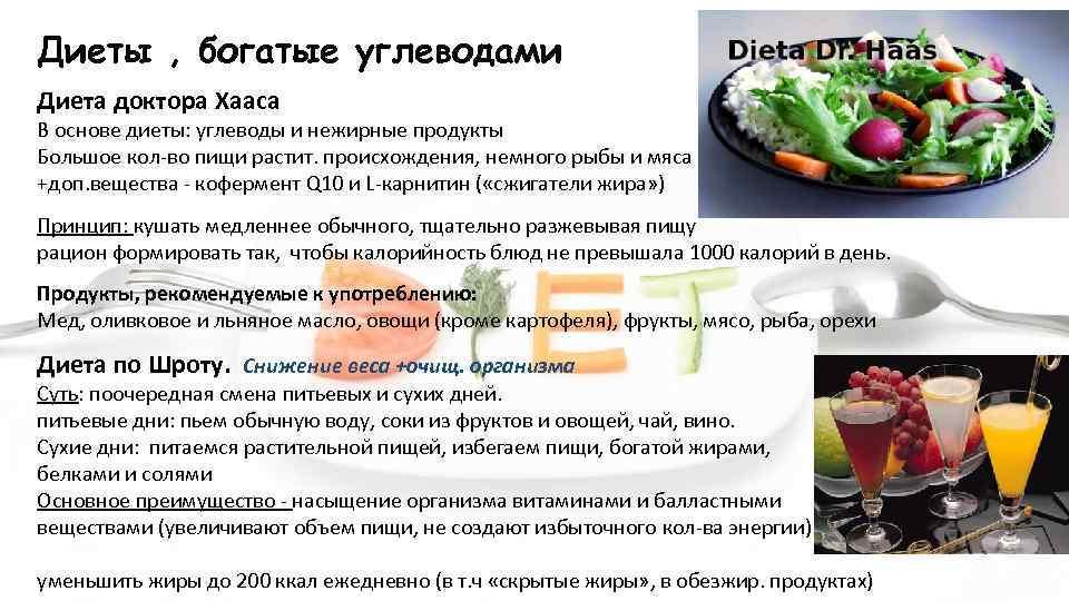 Смысл углеводной диеты