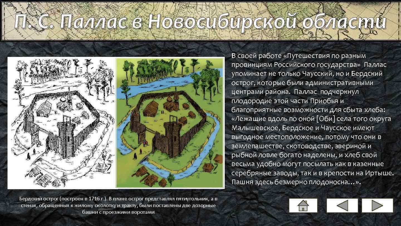 П. С. Паллас в Новосибирской области В своей работе «Путешествия по разным провинциям Российского