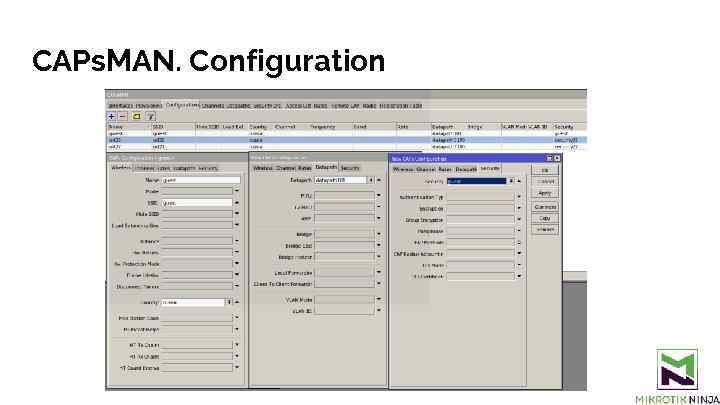 CAPs. MAN. Configuration