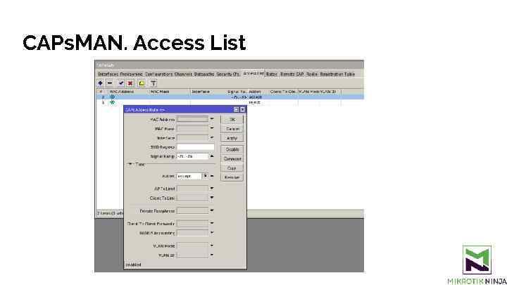CAPs. MAN. Access List
