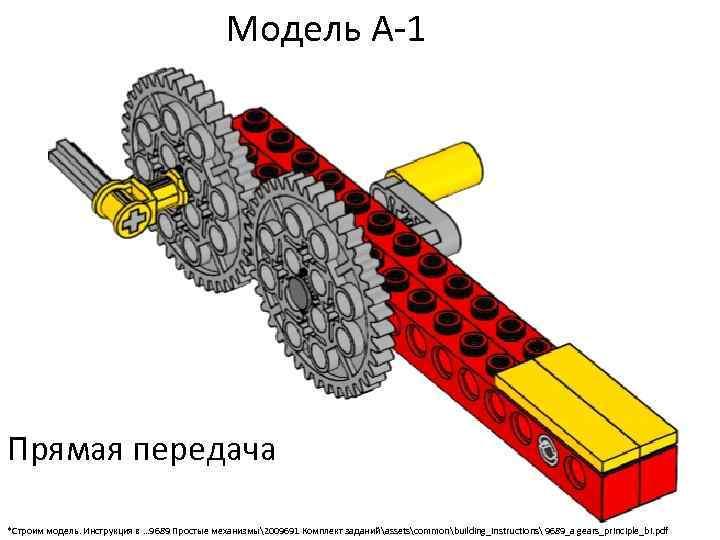 Модель А-1 Прямая передача *Строим модель. Инструкция в … 9689 Простые механизмы2009691 Комплект заданийassetscommonbuilding_instructions