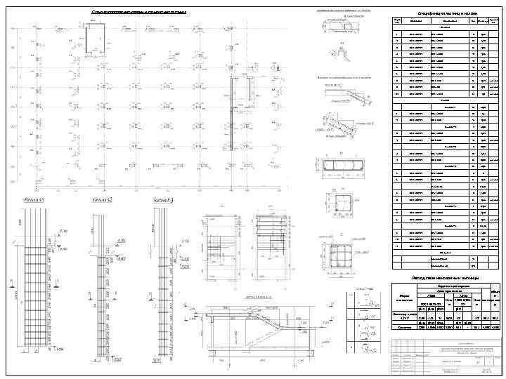 Схема расположения колонн и размещения лестниц Спецификация лестниц и колонн Марка поз. Обозначение Наименование