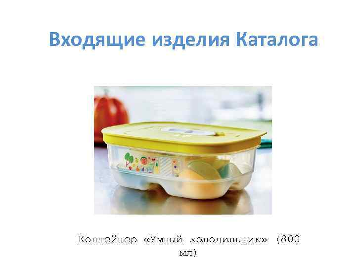 Входящие изделия Каталога Контейнер «Умный холодильник» (800 мл)