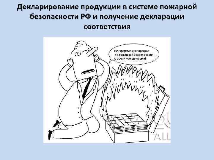 Декларирование продукции в системе пожарной безопасности РФ и получение декларации соответствия