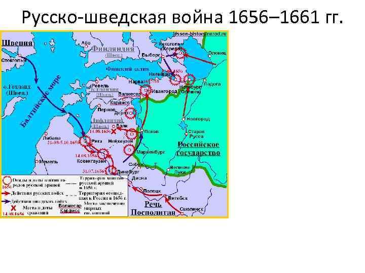 Русско-шведская война 1656– 1661 гг.