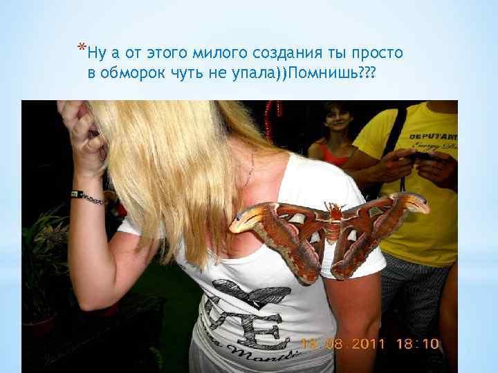 *Ну а от этого милого создания ты просто в обморок чуть не упала))Помнишь? ?