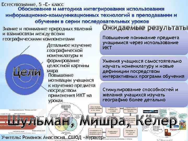 Естествознание, 5 «Е» класс Знание и понимание природных явлений и взаимосвязи между всеми географическими