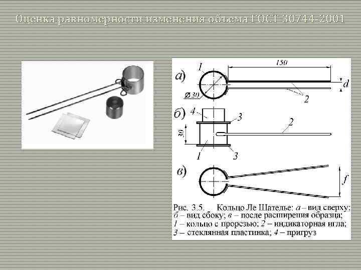 Оценка равномерности изменения объема ГОСТ 30744 -2001