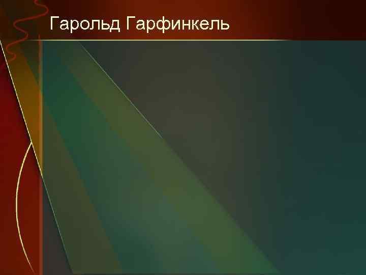 Гарольд Гарфинкель
