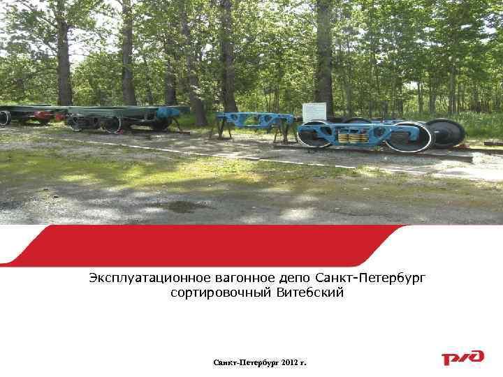 Эксплуатационное вагонное депо Санкт-Петербург сортировочный Витебский Санкт-Петербург 2012 г.
