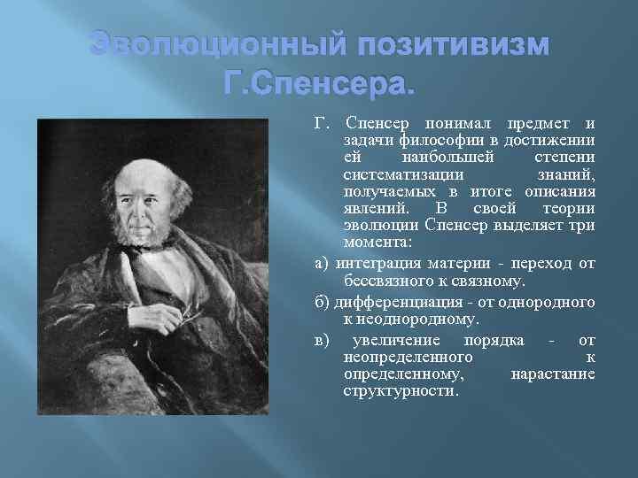 Позитивизм Спенсера Шпаргалка