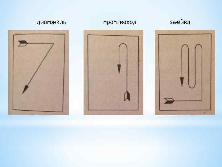 диагональ противоход змейка