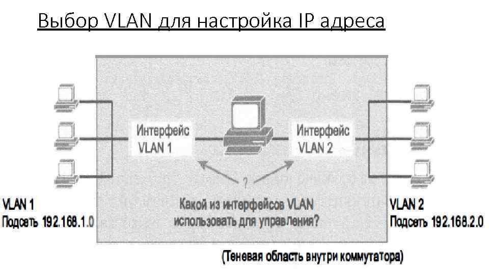 Выбор VLAN для настройка IP адреса