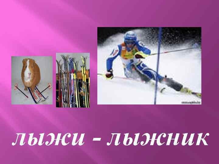 лыжи - лыжник