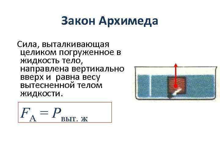 17 Закон Архимеда